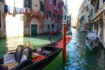 Venice Italy - Gondola and Buildings