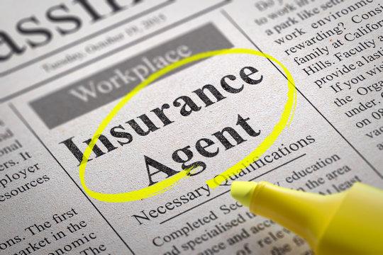 Insurance Agent Vacancy in Newspaper.