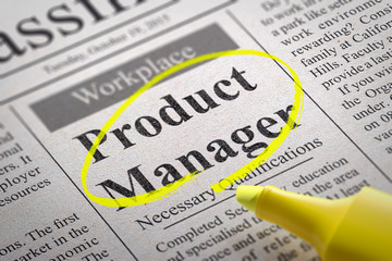 Product Manager Vacancy in Newspaper.