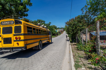 Nicaraguan public bus from Somoto in Palacagüina, Nicaragua