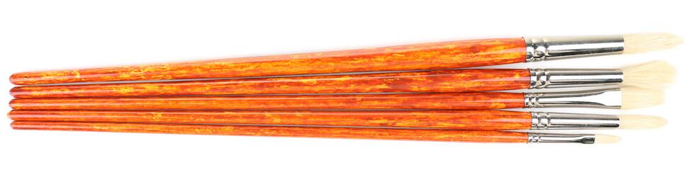 Paint brushes isolated on white
