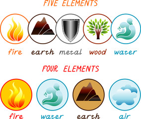Five and four elements