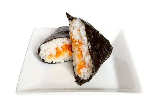 おにぎらず:男の料理 シンプル鮭フレーク