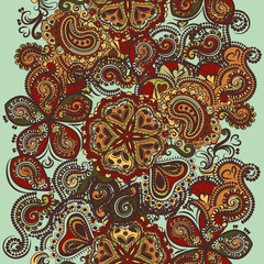 Fashion seamless wallpaper with ornament in Indian style
