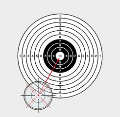 crosshair and target