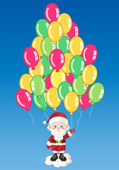 Small Characters- Santa Claus with Balloons