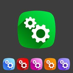 Gear settings flat icon