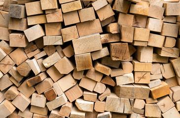 Pile of fresh cut wood logs