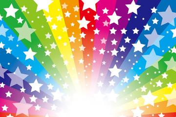 背景素材壁紙(星屑と虹色の放射)