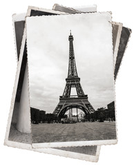 Vintage photo Eiffel tower in Paris
