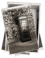 Vintage photo Phone booth