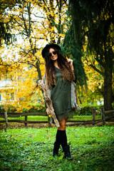 autumn fashion woman outdoor