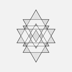 Geometric shapes, line design, triangle