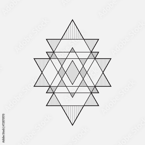 Line Art Design Geometry : Quot geometric shapes line design triangle stock image and