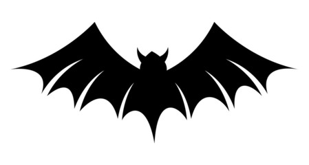 Scary Bat Silhouette Vector