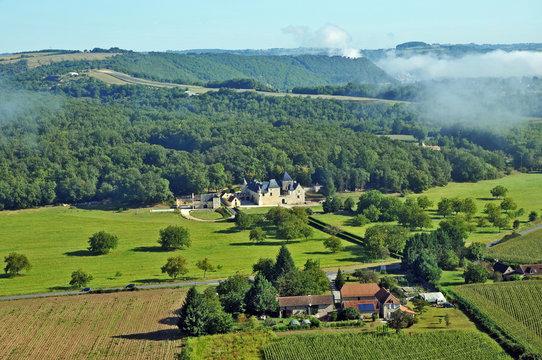 La valle della Vezere - il castello di  Sauveboeuf, Dordogna