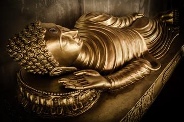 Buddha statue in Wat Phra That Hariphunchai temple , Thailand