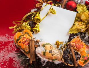 Decorative Christmas wreath.