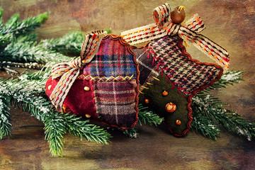 Christmas decoration (handmade toy) .Сhristmas card .