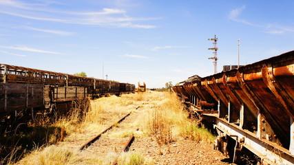 wagon   rouillé