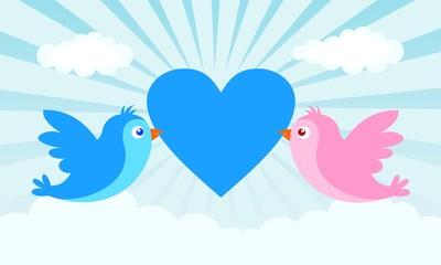 with love birds