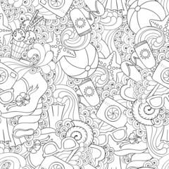 Summer vector seamless background