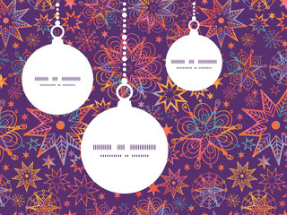 Vector textured christmas stars Christmas ornaments silhouettes