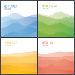 Vector abstract landscape.