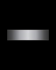 rectangular bent metal font, minus sign