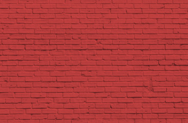Red Brick wall for background or texture