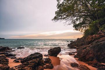 Gloomy tropical sunset.