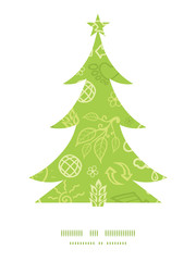 Vector environmental Christmas tree silhouette pattern frame
