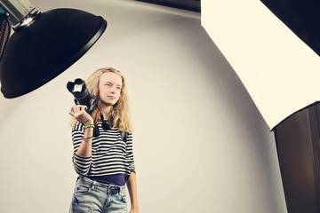 jeune fille photographe