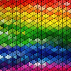 Colorful geometric background, abstract triangle pattern vector