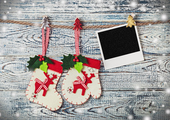 Christmas decoration and photo frame