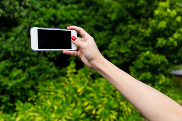 Photo shooting on smartphone