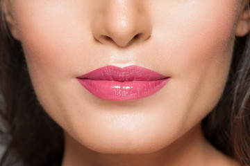 Foto op Plexiglas Beauty Closeup of beautiful lips