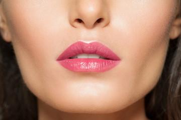 Closeup of beautiful lips