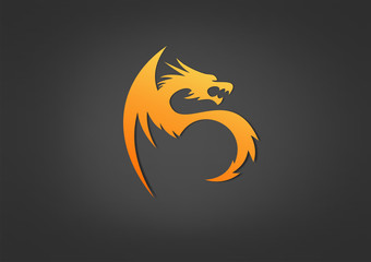 Logo Energi Fire business Dragon fire Symbol Icon Power Vect