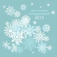 abstract winter background Snowflakes,