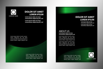 Green and black business flyer