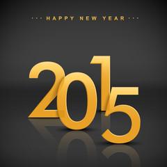 golden 2015 happy new year