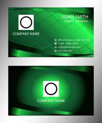 Green modern business card template