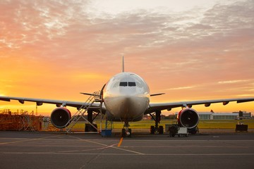 Tuinposter Vliegtuig Aircraft maintenance