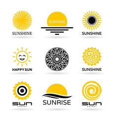 Set of sun icons (4)