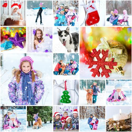 Коллаж из фотографий зимние каникулы онлайн