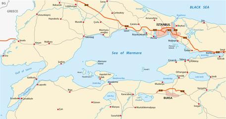 sea of marmara map