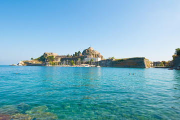 The Old Fortress of Corfu, Greece.