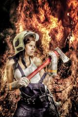 Feuerwehr Frau