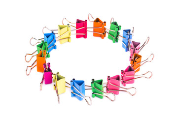 Colourful paper clips